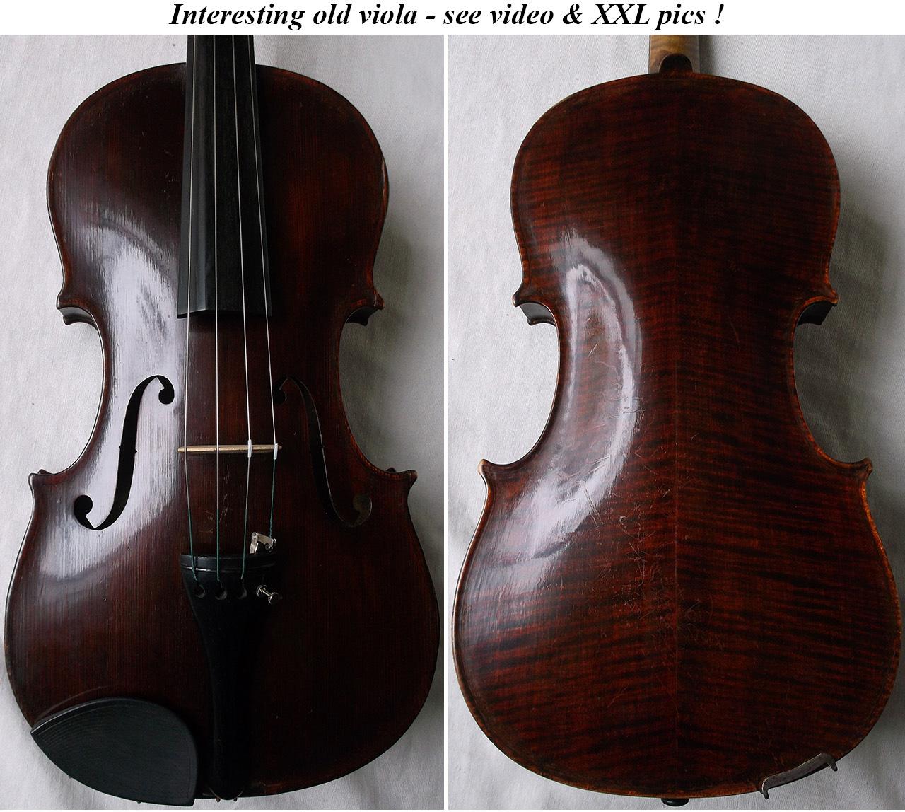 German Master Violin Ernst Heinrich Roth Elegant Shape 1924