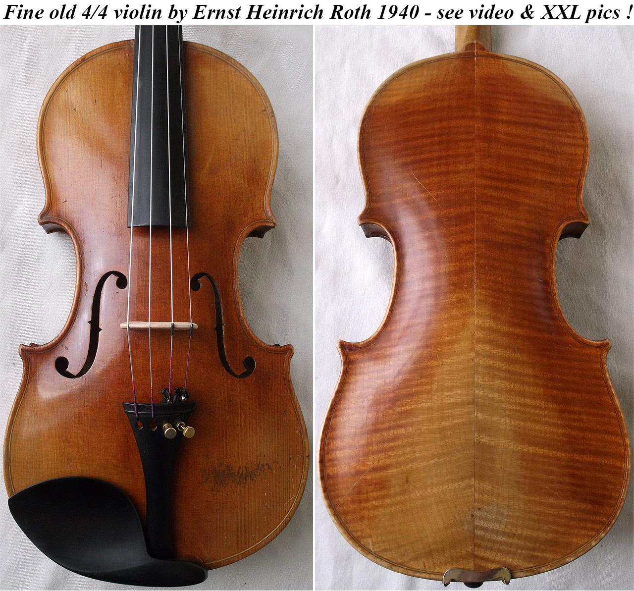 ernst heinrich roth violin